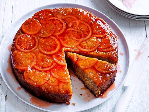 Blood orange hazelnut cake