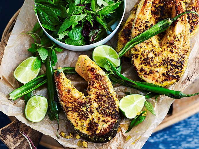 """Salmon cutlets go brilliantly in this [tasty Thai recipe.](http://www.foodtolove.com.au/recipes/thai-marinated-salmon-cutlets-32674 target=""""_blank"""")"""