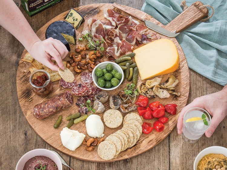 Platters of snacking decadence