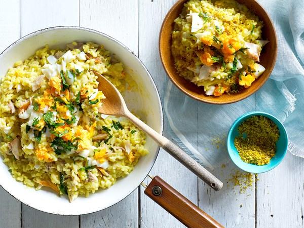 Kedgeree-style risotto