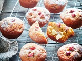 Light and fluffy rhubarb muffins