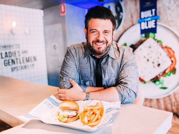 Man vs Food host shares tips for creating the ultimate Aussie burger