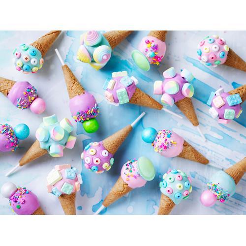 Ice Cream Cone Cake Pops Tutorial