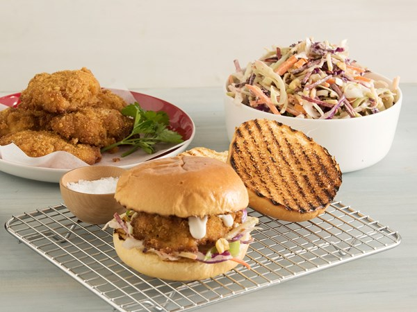 Southern-style chicken burgers