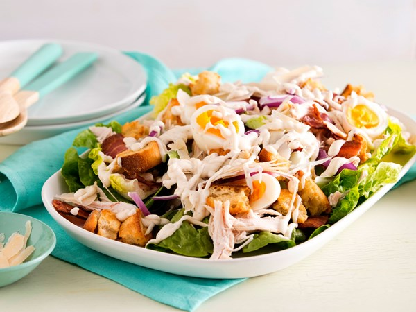 Chicken caesar salad with lemon aioli