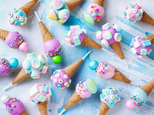 Katherine Sabbath's mini ice-cream cone cake pops