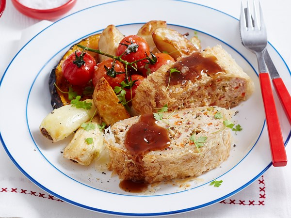 Chicken and tarragon meatloaf