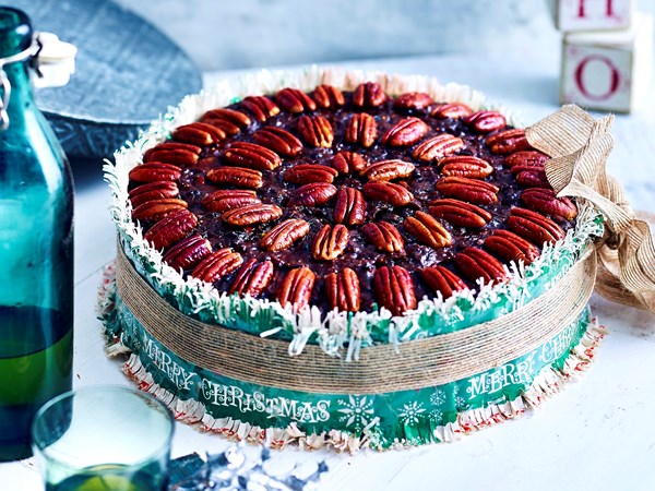 Rich pecan and chocolate fruit cake