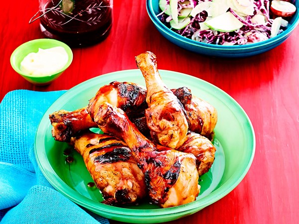 Sticky plum and beer chicken