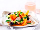 Rockmelon and chicken salad
