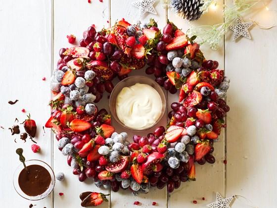 Merry berry summer fruit wreath