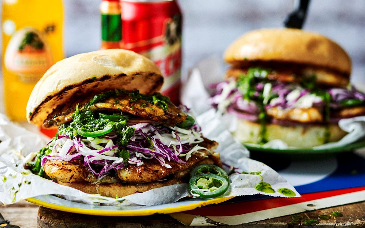 Grilled fish burgers for Fish burger recipe