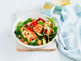 Chilli prawn, potato and zucchini salad