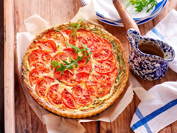 Cheese and herb flan