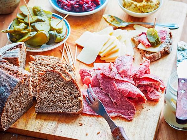 Homemade corned beef platter