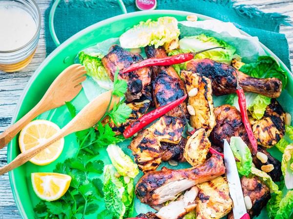 Char-grilled chilli chicken