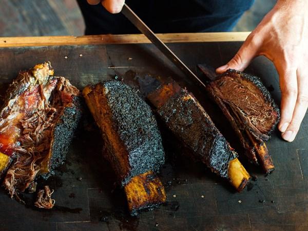 Beef short ribs with smoked-bone sauce