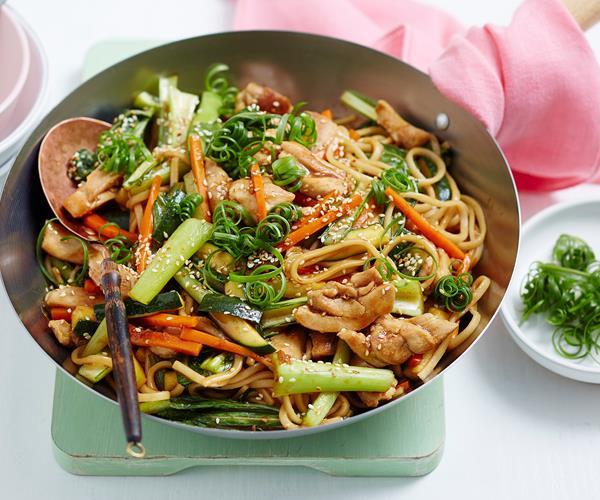 Recipes Chicken Udon Noodles: Teriyaki Chicken Udon Noodles Stir Fry Recipe Recipe