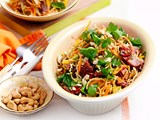 Pork and crunchy noodle salad