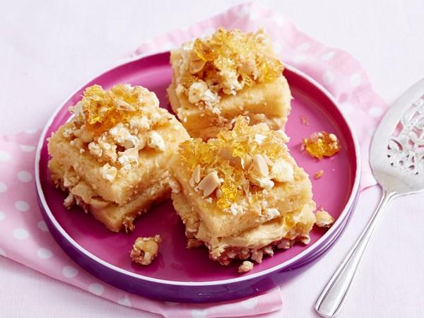 Peanut butter popcorn lamingtons