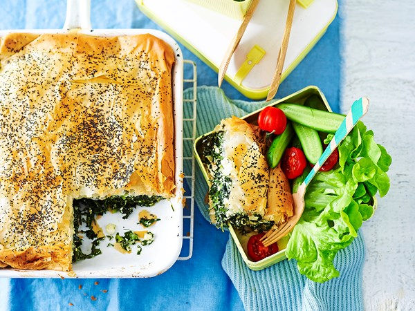 Ricotta and greens slice