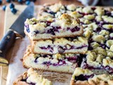 Summer berry and white chocolate slice