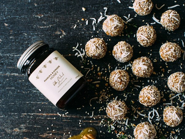 Crown Range Cellar manuka and ginger honey bliss balls