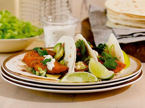 Turmeric fish tacos