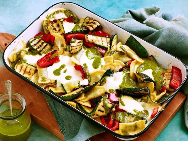 Agnolotti and zucchini melt