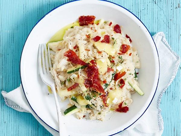 Chicken, zucchini and brie risotto