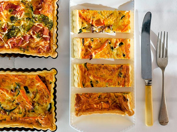 Pumpkin and courgette tart