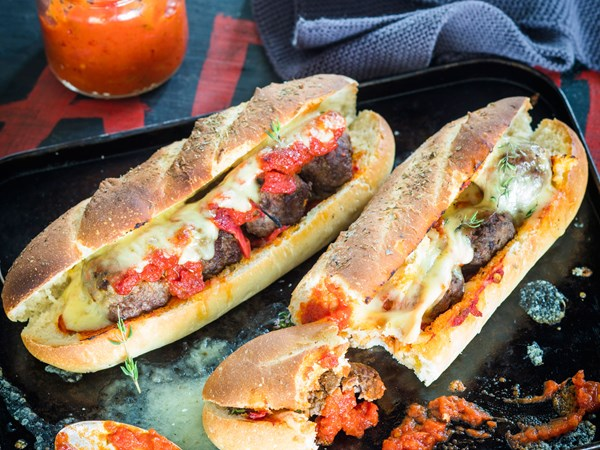 Scrumptious meatball subs
