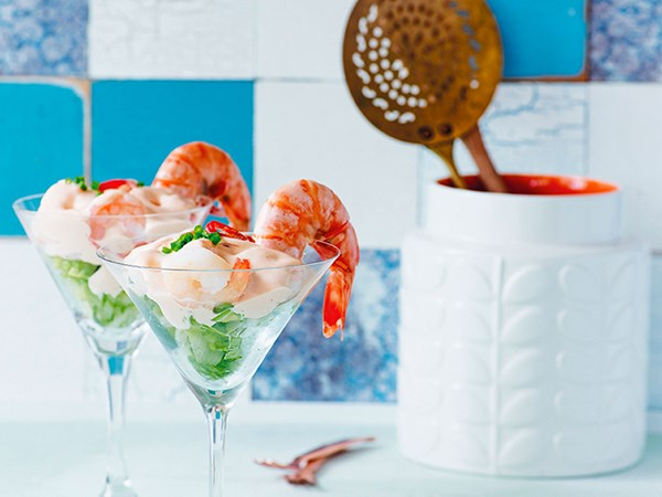 Prawn cocktail with Marie Rose sauce