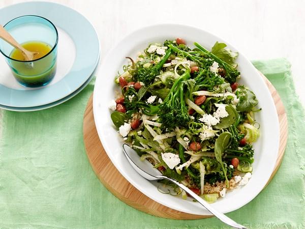Broccolini, beans and quinoa salad