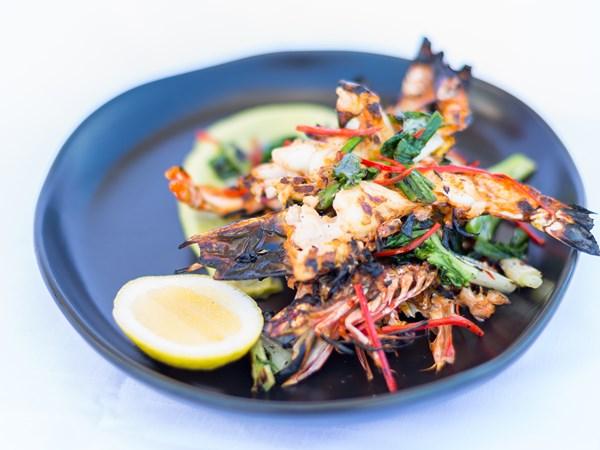 Andy Allen's barbecue chilli prawns