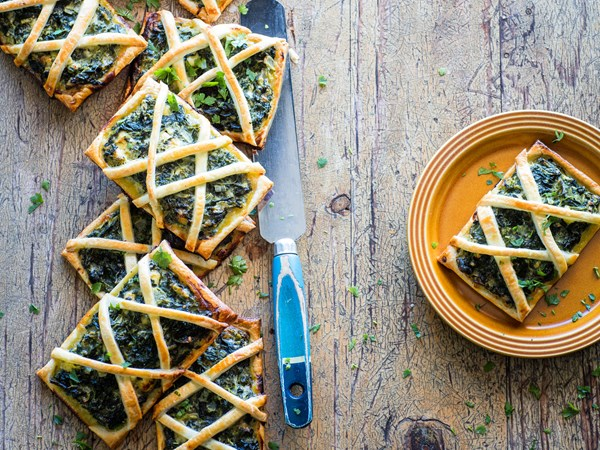 Three cheese spinach gallettes