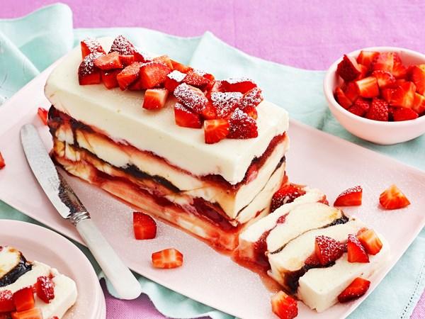 Yoghurt and balsamic strawberry parfait