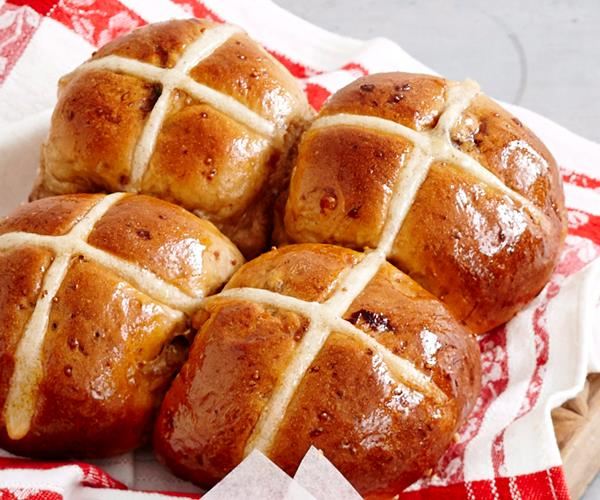 fruit and nut hot cross buns