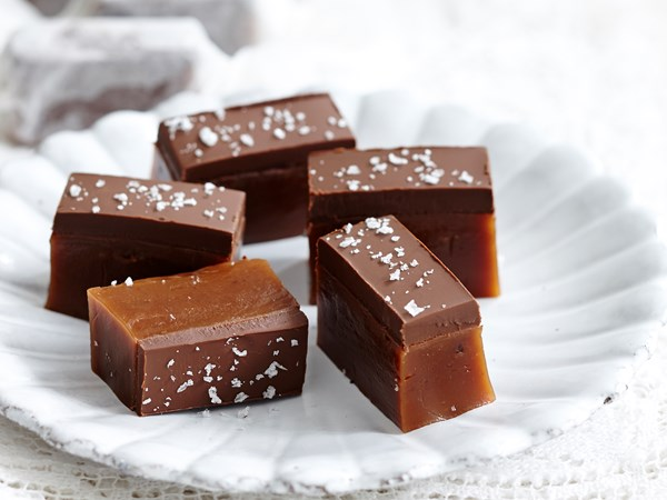 Chocolate and sea salt caramels