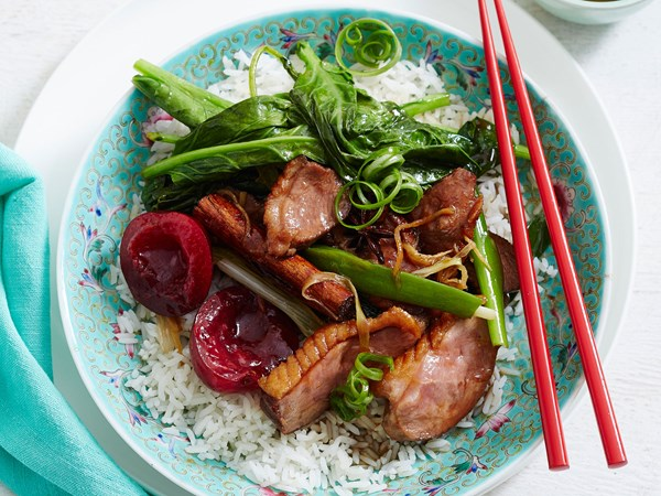 Red-braised fragrant duck with plum glaze