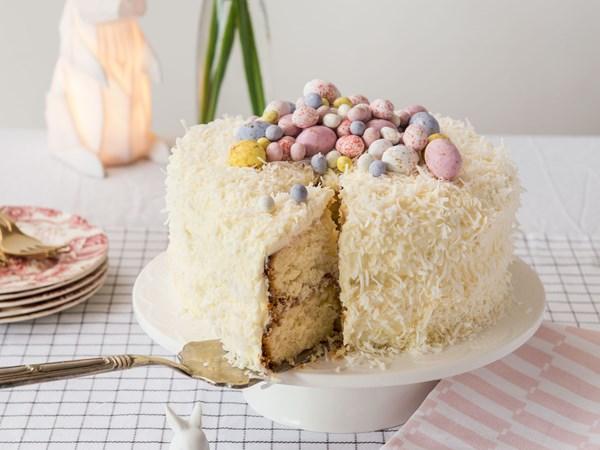 Celebration coconut and vanilla cake