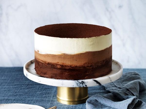 Chocolate buttermilk ombre cake