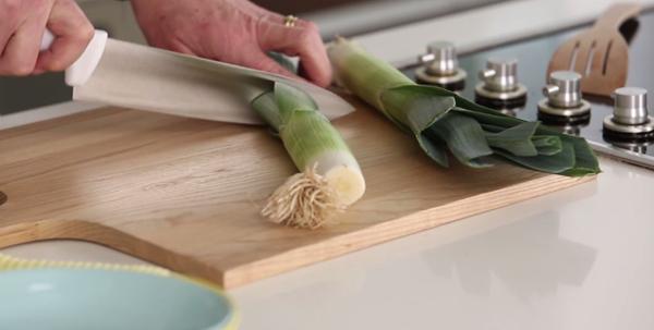 How to prepare leeks