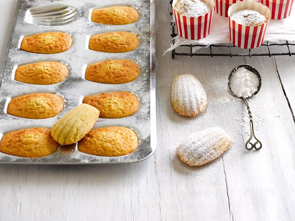 Brown butter and orange madeleines