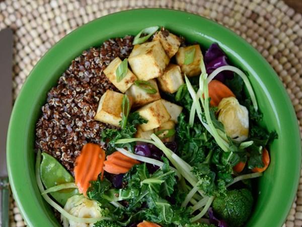 Taylor Farms Teriyaki Stir Fry with tofu and quinoa
