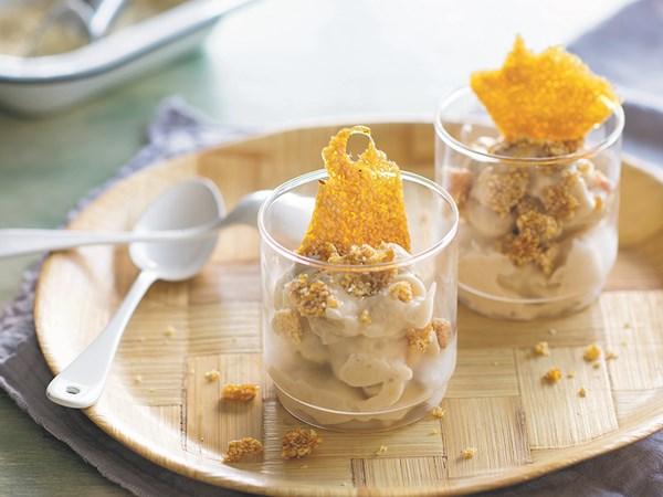 Callum Hann's instant banana ice-cream with sesame praline