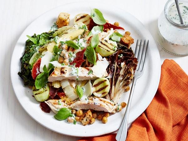 Grilled buttermilk chicken salad