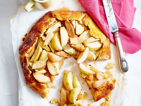 Apple and pear free-form tart