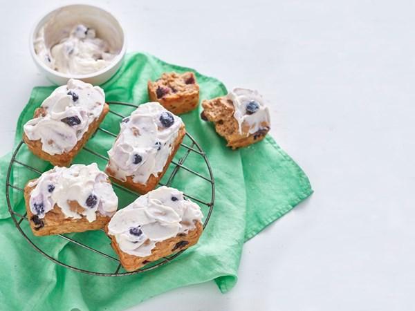 Mini blueberry and banana bread loaves