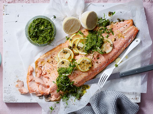 Ocean trout with salsa verde